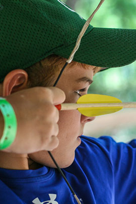 archery land activities at camp davern