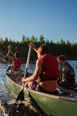 canoeing water activities at camp davern