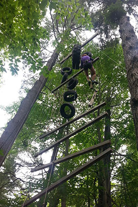 flying squirrel leadership activities at camp davern