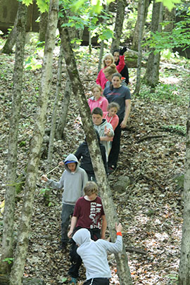 nature discovery land activities at camp davern