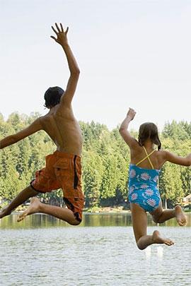 camp davern water trampoline