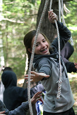 vertical playground land activities at camp davern